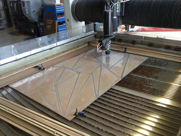 waterjet after cutting sheet steel